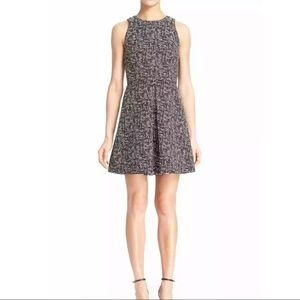 Alice + Olivia  'Janette' Pleat Fit & Flare Dress